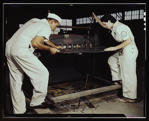 Learning to work a China cutting machine