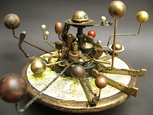 Orrery Steam Punk Assemblage by urbandon