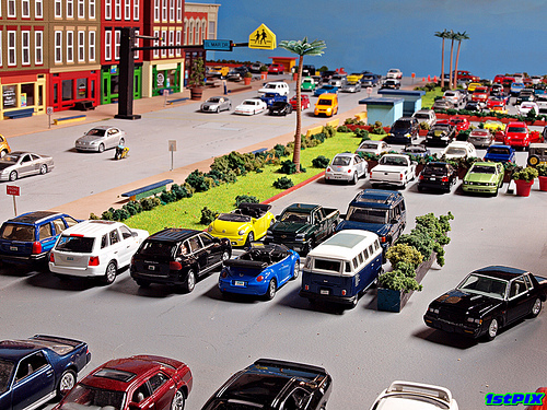 1/64 scale City: Keys Blvd. Shopping Center