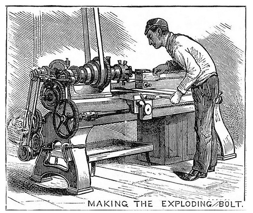 Torpedo manufacture, 1877 (3/7) Making the exploding bolt