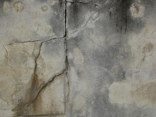 Cracked Grayish Blue Grungy Wall