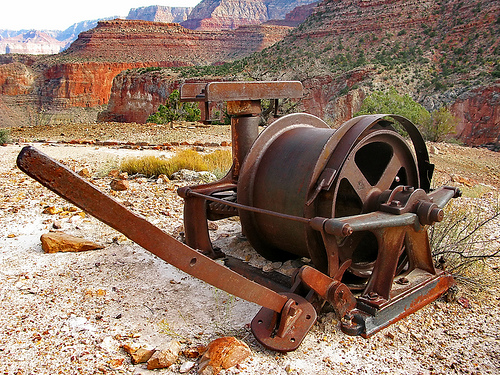 Abandoned mining equipment – Horseshoe Mesa – Grand Canyon – South Rim