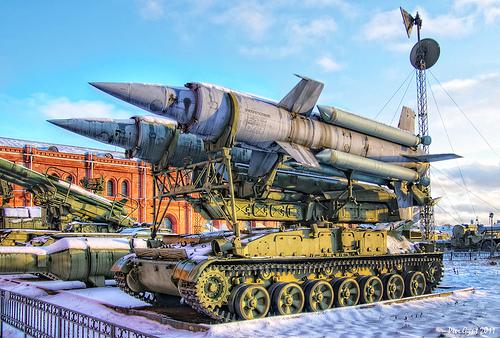 "Soviet 2K11 Krug long-range surface-to-air missile system. Советский ЗРК 2К11 ""Круг""."