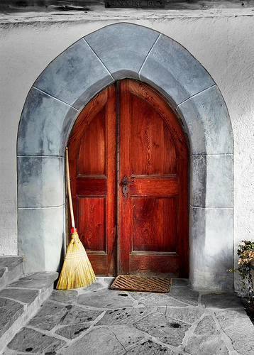 Chapel door in Swiss Alps