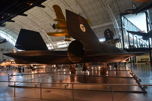 Steven F. Udvar-Hazy Center: SR-71 Blackbird (starboard tail view)
