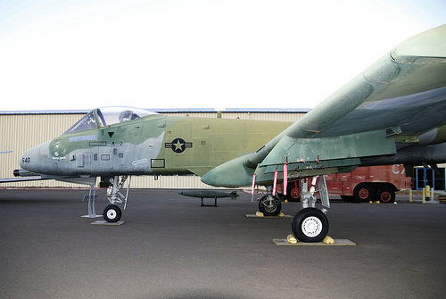 A10A, port side, nose to wing