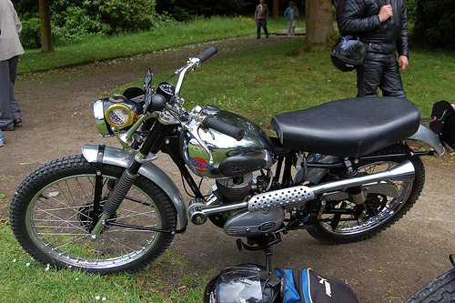 "THE ""DOT"" MOTORCYCLE. CLASSIC TWO-STROKE SINGLE."