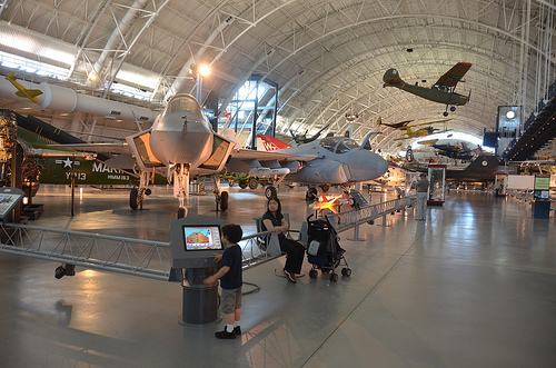 Steven F. Udvar-Hazy Center: Lockheed Martin X-35B Joint Strike Fighter, with other modern jet aircraft