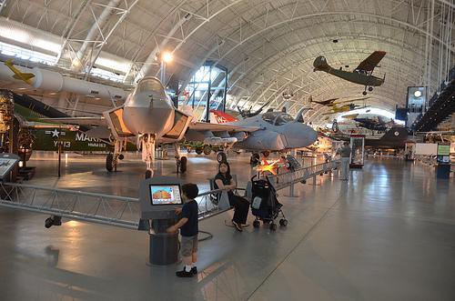 Steven F. Udvar-Hazy Center: Lockheed Martin X-35B Joint Strike Fighter, with other modern jet aircraft