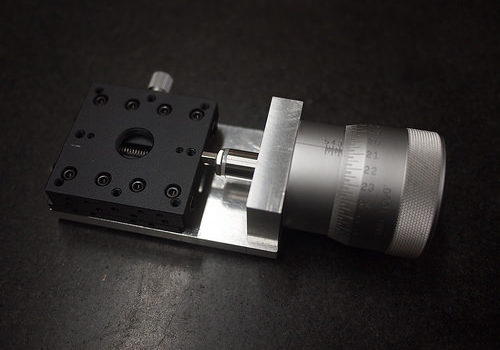 Handmade micrometer rig