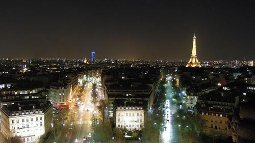 Montparnasse Tower & Eiffel Tower from the Arc de Triomphe, Paris